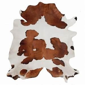 tapis en vrai peau de vache marron et blanc With tapis peau de vache avec canapé vrai lit