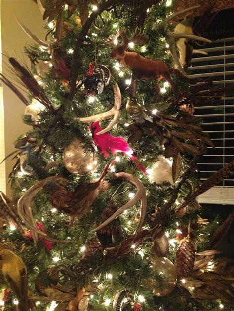 christmas tree   wildlife theme  antlers