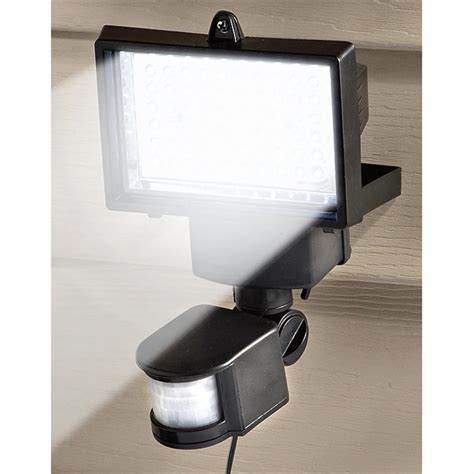 nature power solar security motion sensor light 60 led