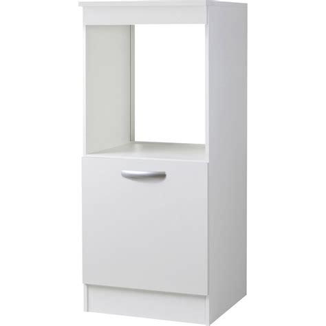 conforama chaise de cuisine meuble de cuisine 1 2 colonne 1 porte blanc h140 4x l60x