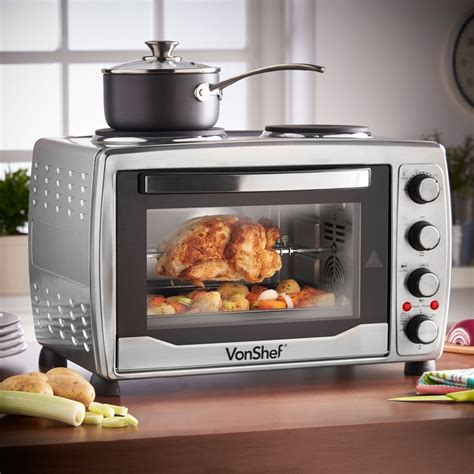 Small Countertop Ovens by Vonshef 13217 Large Toaster Oven W Plate For