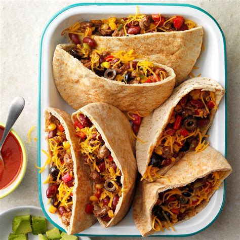 Hearty Pita Tacos Recipe: How to Make It   Taste of Home