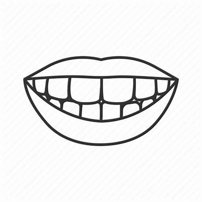 Tooth Icon Teeth Mouth Smile Dental Woman