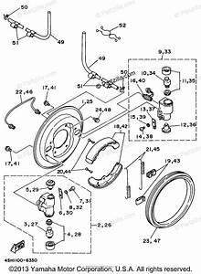 Yamaha Atv 1996 Oem Parts Diagram For Front Brake