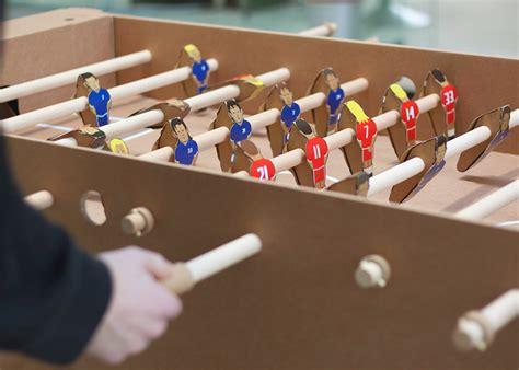 make cardboard foosball table kartoni cardboard foosball table by kickpack