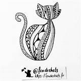 Cat sketch template