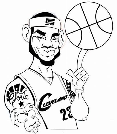 Lebron Coloring James Pages Kevin Durant Kobe