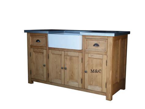 meuble d evier cuisine meuble de cuisine dessus zinc
