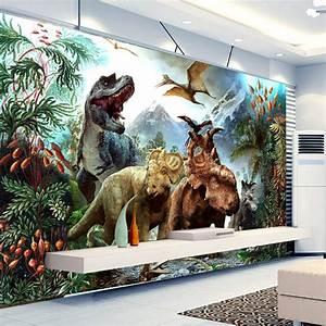 Poster Mural 3d : buy custom 3d poster photo wallpaper 3d cartoon dinosaur non woven mural living ~ Teatrodelosmanantiales.com Idées de Décoration