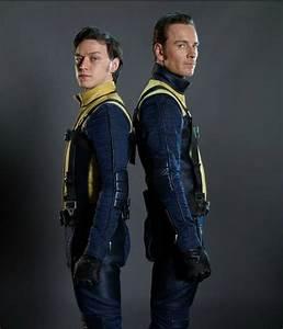 James McAvoy & Michael Fassbender as Charles Xavier & Eric ...