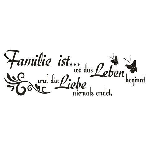 spruch wandtattoo familie ist wo das leben liebe