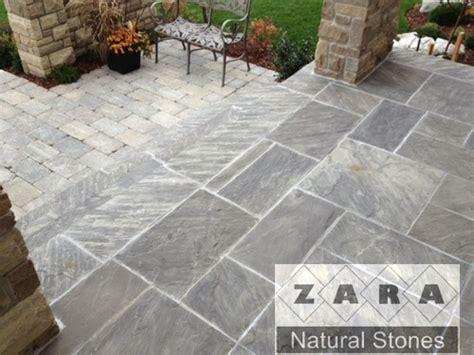 zara imperial black paving stones silver blueish paver