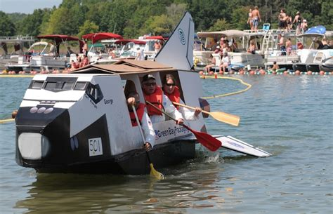 Cardboard Boat Test by World Chionship Cardboard Boat Races In Heber Springs