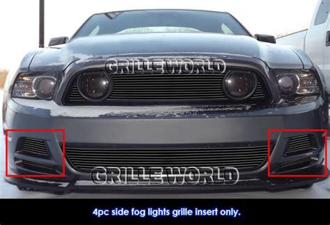 2013 mustang gt fog lights fits 2013 2014 ford mustang gt black fog light billet