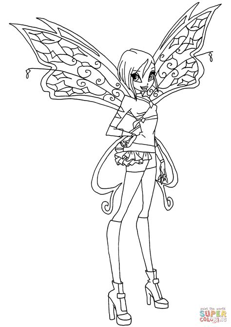 Kleurplaten Winx Club Believix believix tecna coloring page free printable coloring pages