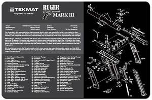 Ruger Mark Iii Handgun Tekmat Gun Cleaning Mat 11 U0026quot X17 U0026quot  W   Parts Diagram Rugermk3