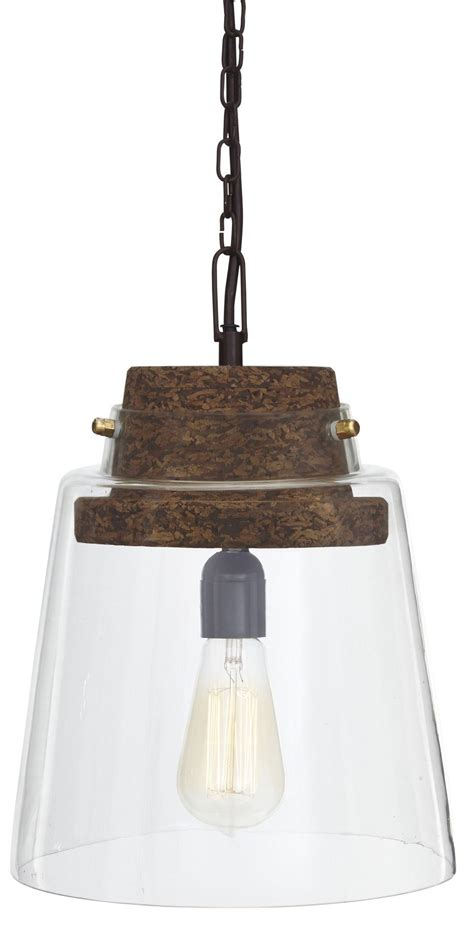 hakeem clear brown glass pendant light from