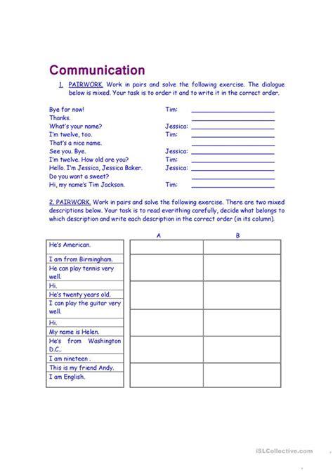 Communication Worksheet  Free Esl Printable Worksheets Made By Teachers