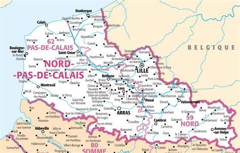 Carte Nord De La by R 233 Gion Du Nord Pas De Calais Carte Voyages Cartes
