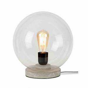 Lampe Boule à Poser : lampe poser en b ton gris its about romi ~ Dailycaller-alerts.com Idées de Décoration
