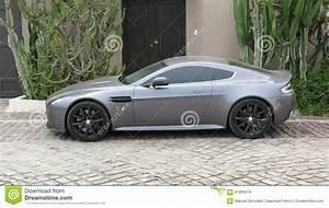 Gray Color Aston Martin Vantage S In Lima Editorial Stock ...