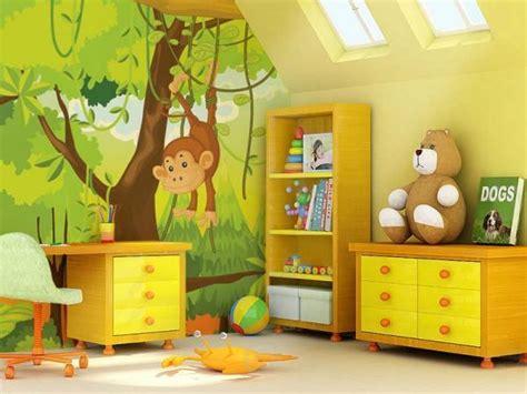 chambre de bébé jungle deco chambre bebe garcon jungle visuel 2