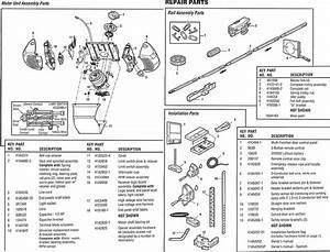 Chamberlain Belt Drive Models 248739 Parts Genie Screw Drive Garage Door Opener