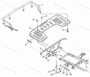 Polaris Atv 1997 Oem Parts Diagram For Rear Rack Mounting