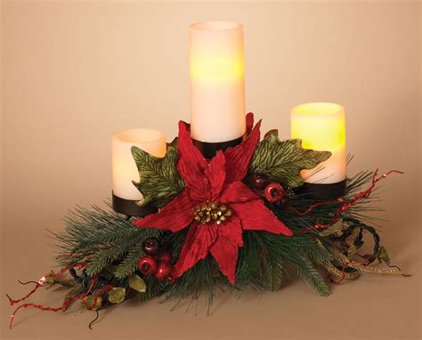 christmas candle holders metal triple candle holder