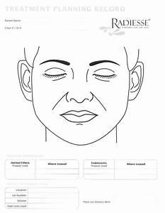 Cosmetic Face Diagram