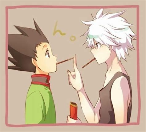 hunter  hunter scenarios pocky game gon  killua