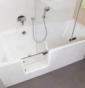 Sitzbadewanne Mit Dusche : die begehbare sitzbadewanne duschbadewanne bringt sicherheit im bad ~ Frokenaadalensverden.com Haus und Dekorationen
