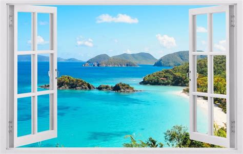 Ocean View Islands Tropical Wall Decals Vinyl Stickers 3d