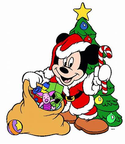 Disney Christmas Clipart Clip Holiday Mickey Cliparts