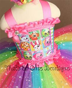 Shopkins Tutu Dress Shopkins Birthday Dress Rainbow Party Dress for Girls