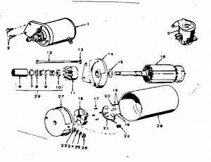 Starter Motor Parts Diagram  U0026 Parts List For Model