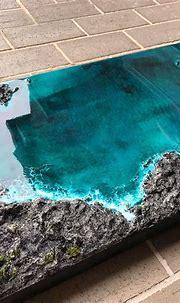 Original Artwork 3D REAL Ocean Rocks Epoxy Resin Wall ...