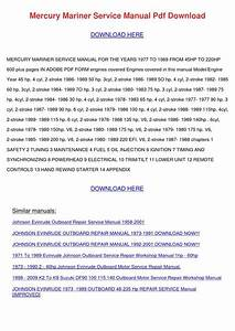 1988 Johnson 40 Hp Owners Manual