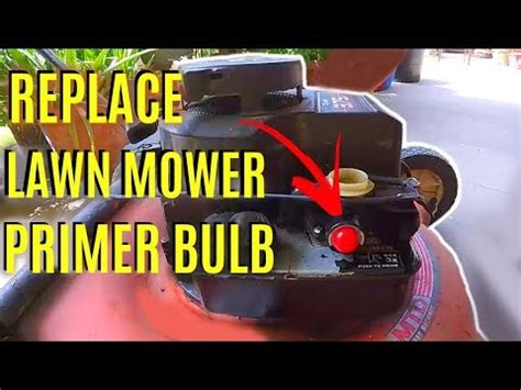 How To Replace Briggs & Stratton Lawnmower Primer Bulb