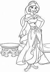 Jasmine Coloring Princess Disney Walt Characters Fanpop sketch template