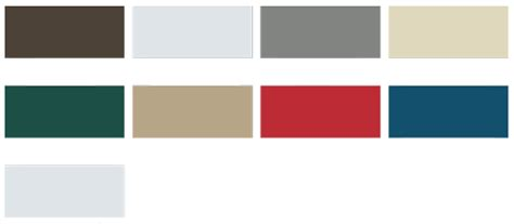 mbci color chart steel buildings color charts thickness choices