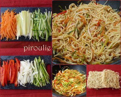 comment faire un pate chinois nouilles asiatiques 2 versions v 233 g 233 tariennes ou au poulet p 226 tisseries et gourmandises
