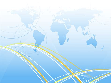 World Background Blue Map Of The World Backgrounds Business Colors