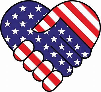 American Heart Clip Clipart Hand Shake Flag