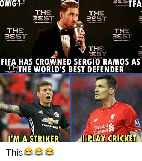 World S Best Memes - omg1 fifa has crowned sergio ramos as the world s best defender standard chartend cheveilet i