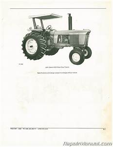 Used John Deere 4320 Tractor Parts Manual