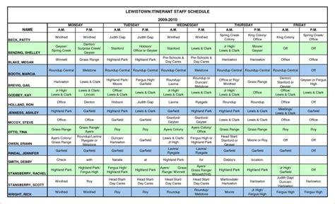 Employee Schedule Template Excel Employee Schedule Template Shatterlion Info