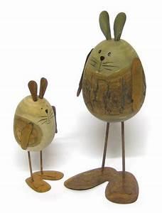 Deko Aus Holz : deko osterhase aus holz und metall stehend 12 cm holzhase osterdeko ~ Markanthonyermac.com Haus und Dekorationen