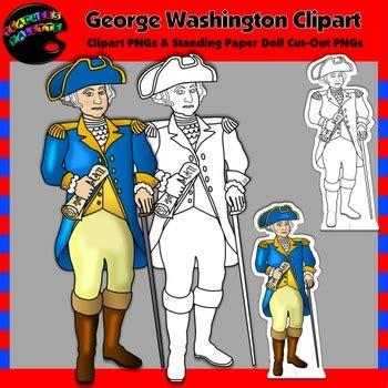 george washington clipart  paper dolls  teachers