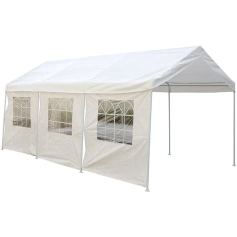 10x20' Canopy Carport With Side Walls  115407, Garage